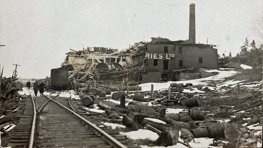 Halifax Explosion Exhibit, Copy Photograph, Original photographic print in collection of Dartmouth Heritage Museum.